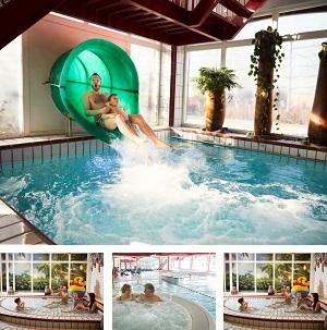 Subtropisch zwembad Parc Sandur collage